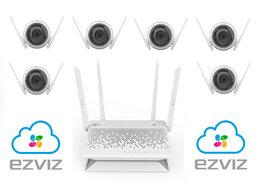 Камеры видеонаблюдения - Комплект на 6камер ezviz C3WN +Vault Plus, 0