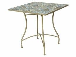 Кресла и стулья - Садовый стол ТУЛУЗА, металл, мозаика, 78x78x77…, 0