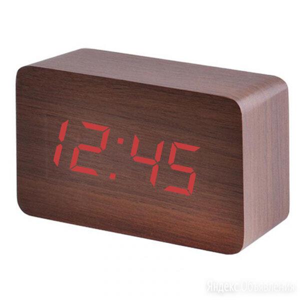 Часы электронные 863-1 (красные цифры -коричневый ) по цене 660₽ - Наручные часы, фото 0