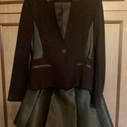 Пиджаки - Пиджак черный Karen Millen, с нюансом, р44, 0