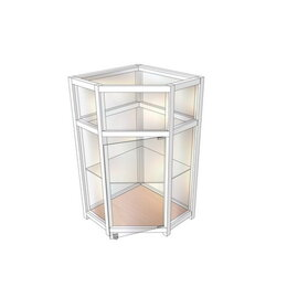 Мебель для учреждений - Прилавок демонстрационный угловой, аквариум ПДА-01/05у, 0