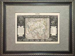 Гравюры, литографии, карты - Старинная карта Азии и России раритетного…, 0