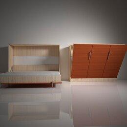 Кровати - Шкаф-кровать с подъемным механизмом трансформер горизонтального подъема вс.3, 0