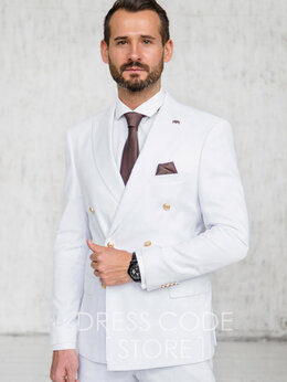 Костюмы - Двубортный белый костюм kimberly, 0