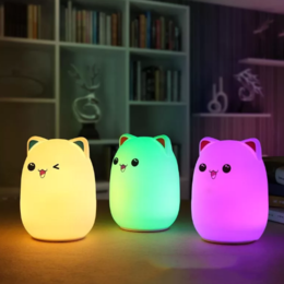 Настенно-потолочные светильники - Ночник светильник USB Silicone lamp силиконовый…, 0