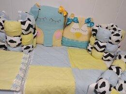 Покрывала, подушки, одеяла - Бортики бомбон в кроватку и подушки Зверюшки, 0