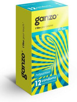 Презервативы - Презервативы с ребристой структурой Ganzo Ribs -…, 0