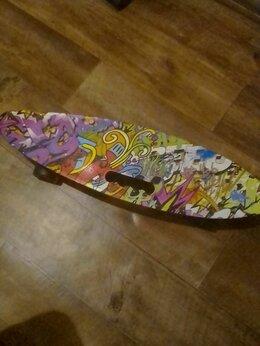 Скейтборды и лонгборды - Пенниборд детский,со светящимися колёсами, 0