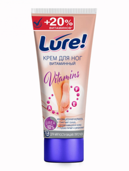 Уход за ногами - Крем для ног LURE витаминный с мочевиной 75мл, 0