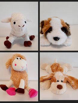Мягкие игрушки - Мягкие игрушки. 4 шт. Овечка 2шт, Собака 2 шт, 0
