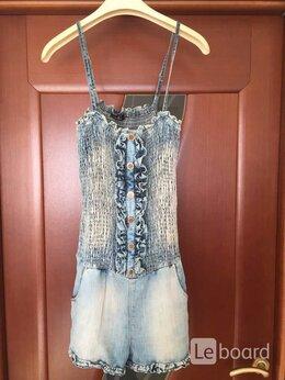 Комбинезоны - Комбинезон б/у Celyn 27 M 44 46 джинсовый шорты…, 0