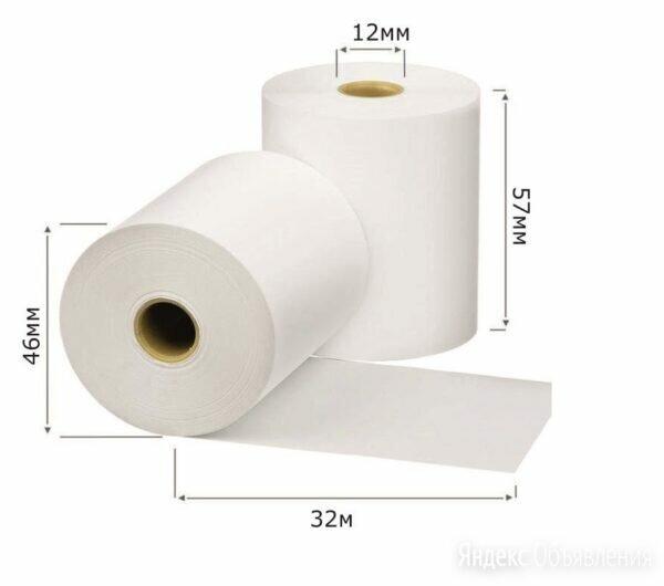 Чековая лента  57*46мм 32м (5942) 18*9 (162шт) термобумага по цене 16₽ - Бумага и пленка, фото 0