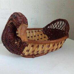 Хлебницы и корзины для хлеба - Плетеная корзинка в форме уточки, 0