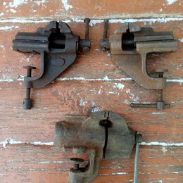 Тиски - Тиски слесарные, советские, малые, ширина губок 6см, 0