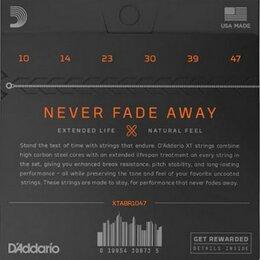 Струны - D'Addario XTABR1047 набор струн для 6-струнной…, 0
