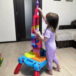Развивающие игрушки - Развивающий столик конструктор замок машинки, 0