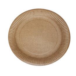 Одноразовая посуда - Тарелка «Крафт»180мм 100 шт/уп, 0