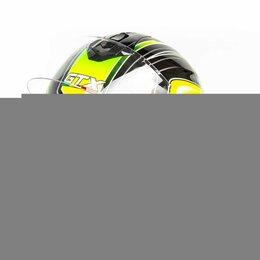Мотоэкипировка - Шлем мото интеграл GTX 5672 (L) #3 BLACK/FLUO YELLOW GREEN (2 визора), 0