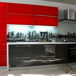 Мебель для кухни - Прямая кухня в стиле хай-тек НьюДезаир, 0