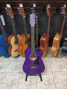 Акустические и классические гитары - Гитара новая фиолетовая, 0
