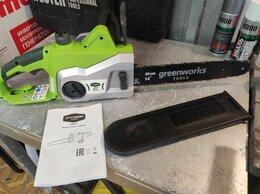 Электро- и бензопилы цепные - Пила цепная GreenWokrs GSC1836, 0