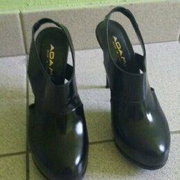 Ботильоны - Кожаные туфли ботильоны, 0