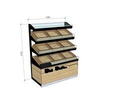 Витрины - Купить стеллаж витрина для хлеба и выпечки , 0