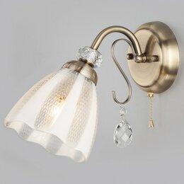 Бра и настенные светильники - Бра Eurosvet Floranse 30155/1 античная бронза, 0