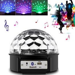 Ночники и декоративные светильники - Диско шар МР3 LED magic с bluetooth, 0