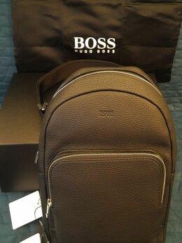 Рюкзаки - BOSS Кожаный рюкзак, 0
