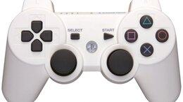 Рули, джойстики, геймпады - Джойстик беспроводной для PS3 White белый, 0