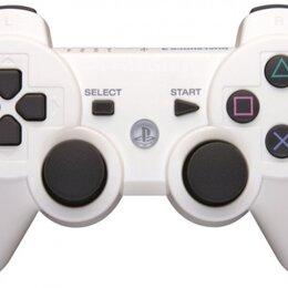 Аксессуары - Джойстик беспроводной для PS3 White белый, 0