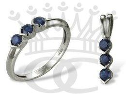 Комплекты - Золотой комплект сапфиры кольцо М70900006 подвеска, 0