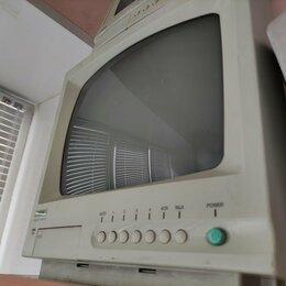 Мониторы - Не рабочий Черно белый монитор 4х канальный для видеонаблюдения Satro, 0
