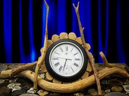 Часы настольные и каминные - Часы настольные из дуба, 0