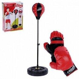 Боксерские перчатки - Набор для бокса - Профи: напольная груша, перчатки, 0