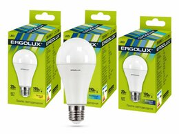Лампочки - Светодиодная лампа E27 20W 4500K A65 Ergolux…, 0