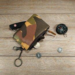 Кошельки - Кошелёк кожаный на молнии. Милитари., 0
