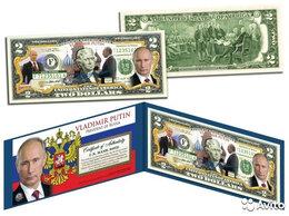 Банкноты - 2 доллара США Путин 2014 г цветная, 0