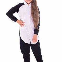 "Домашняя одежда - Комбинезон детский - кигуруми ""Панда"" из велюра 30 размер (рост 104-110, 0"