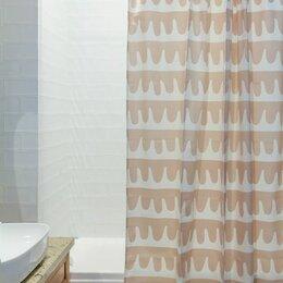 Шторы и карнизы - Штора для ванной popple цвета пыльной розы…, 0