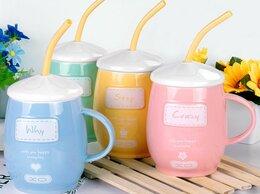 Кружки, блюдца и пары - Керамическая кружка с трубочкой Porcelain Cup…, 0