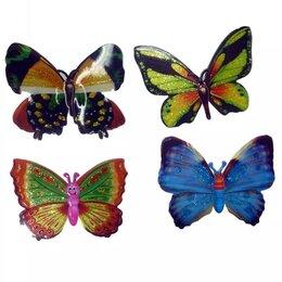 Интерьерные наклейки - Наклейка бабочка на листе 1/4, 0