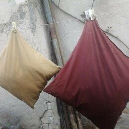 Подушки - Подушки перьевые б/у, 2-шт, 60х60 и 40х40 см, 0