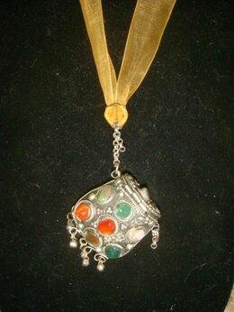 Кулоны и подвески - Кулон медальон для духов мельхиор Мексика винтаж, 0