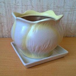 Горшки, подставки для цветов - Горшок керамический для цветов, Лилия. НОВЫЙ., 0