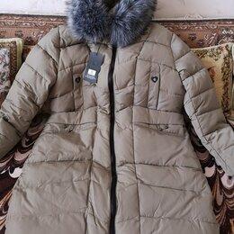 Пуховики - Пальто-пуховик женское новое 58 размер, 0