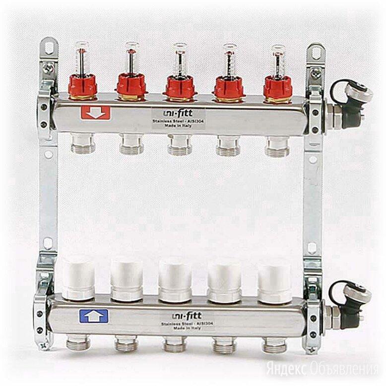 """Uni-Fitt  1""""х3/4"""" 5 выхода коллекторная группа для теплого пол по цене 11736₽ - Коллекторы, фото 0"""