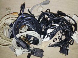 Компьютерные кабели, разъемы, переходники - Шнур VGA и DVI кабель видео, провод для компьютера, 0