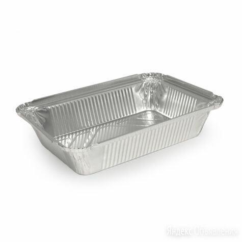 Алюминиевая форма прямоугольная объем 780мл L-край 50 шт по цене 405₽ - Посуда для выпечки и запекания, фото 0